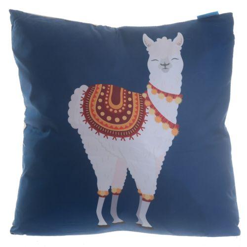Kussen met alpaca/lama
