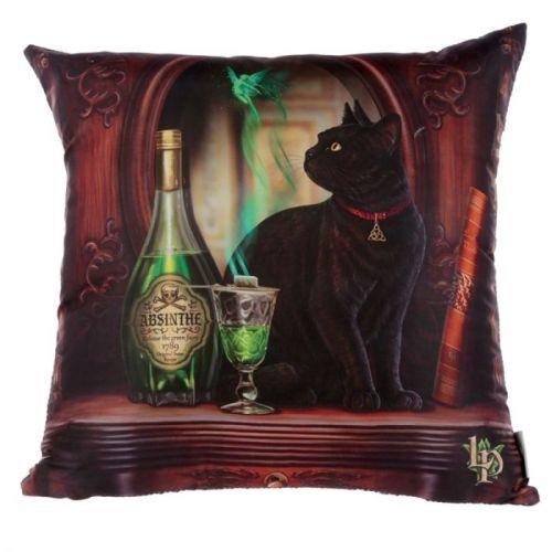 Kussen Lisa Parker - Absinth Cat