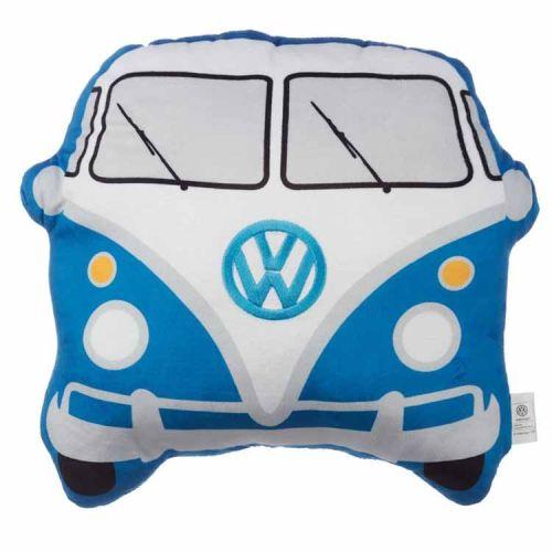 Kussen Volkswagen T1 blauwe kampeerbus