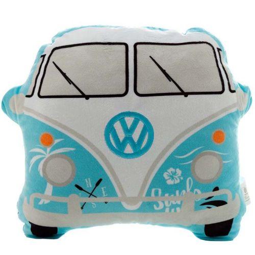 Sierkussen Volkswagen busje T1 lichtblauw - Surf adventure