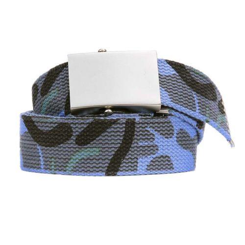 Koppelriem/Tropenkoppel canvas met schuifgesp - Camouflage blauw