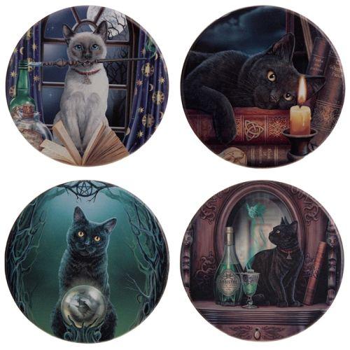 Set van 4 onderzetters - Lisa Parker katten