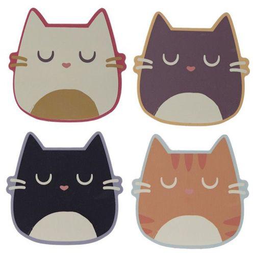 Set van 4 onderzetters - Feline Fine Cat
