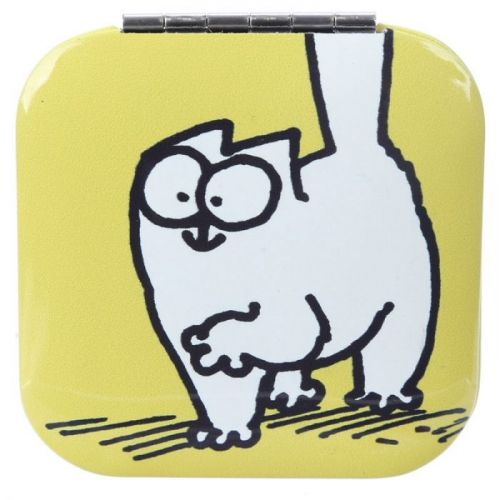 Make-up spiegeltje Simon's Cat geel