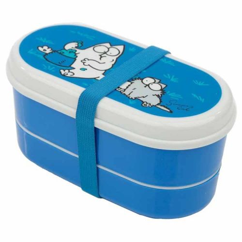 Japanse lunchbox/Bento box - Simon's Cat blauw