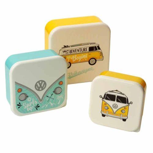 Set van 3 lunchtrommels - Volkswagen kampeerbus