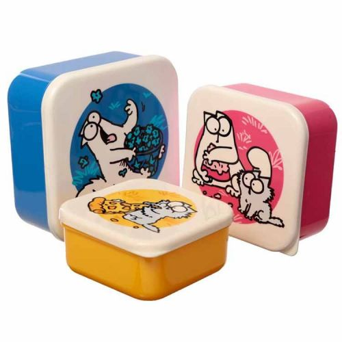 Set van 3 lunchtrommels - Simon's Cat