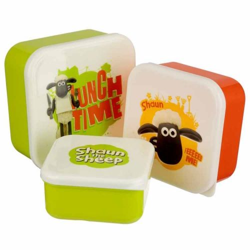 Set van 3 lunchtrommels - Shaun the Sheep