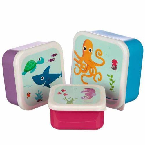 Set van 3 lunchtrommels - Zeedieren