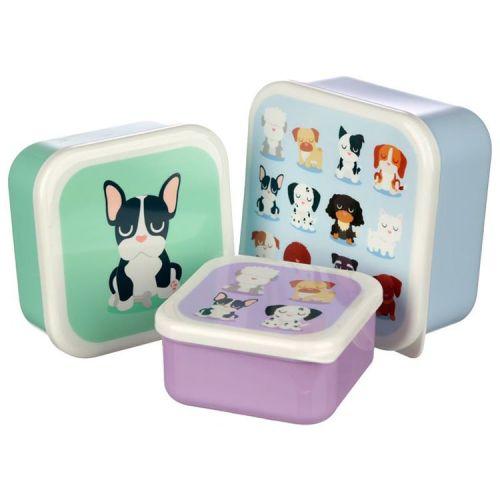 Set van 3 lunchtrommels - Honden