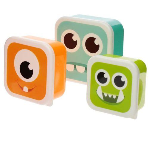 Set van 3 lunchtrommels - Monstarz monsters