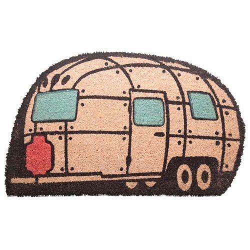 Deurmat in de vorm van een Caravan