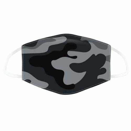 Mondkapje camouflage zwart/grijs