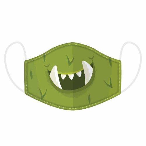 Mondkapje kinderen - Groen Monster