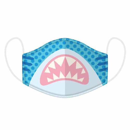 Mondkapje kinderen - Haaienbek blauw