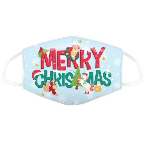 "Mondkapje - kerst ""Merry Christmas"""