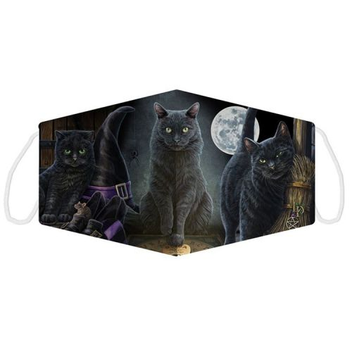 Mondkapje - Lisa Parker - Zwarte katten