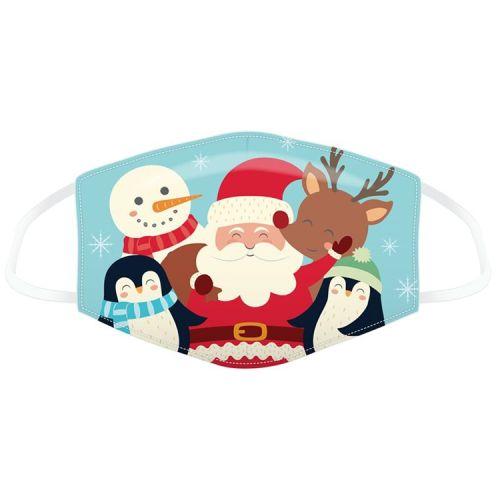Mondkapje voor kinderen - kerstman met vriendjes