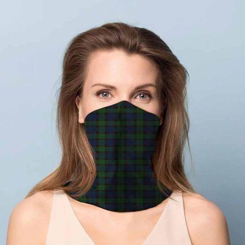Gezichtsbedekking sjaal - Ruit groen/blauw