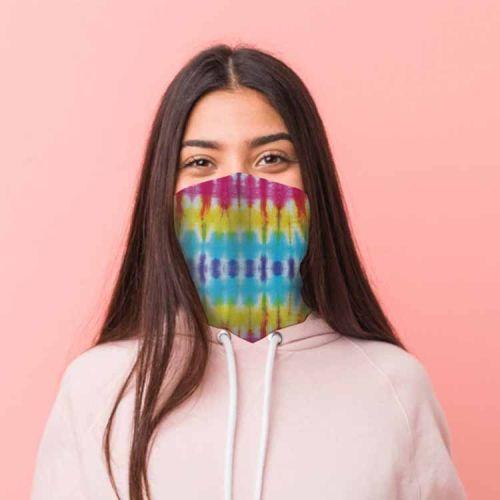 Gezichtsbedekking sjaal - Tie Dye Regenboog