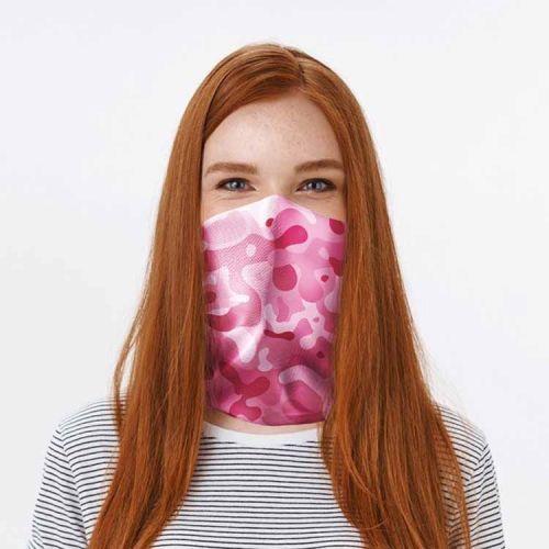 Gezichtsbedekking sjaal - Camouflage roze