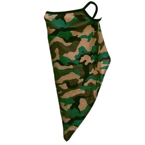 Gezichtsbedekking sjaal - Camouflage Groen