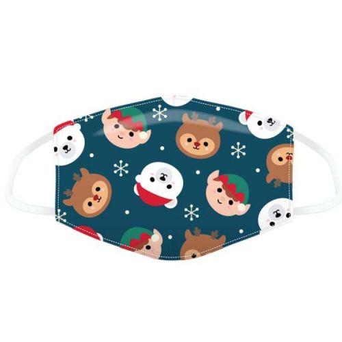 Mondkapje voor kinderen- Kerst Cutie Animals
