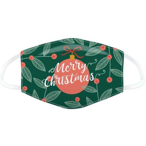 """Mondkapje - Kerst groen """"Merry Christmas"""""""