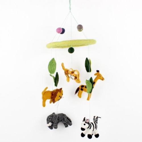 Vilten mobiel jungle dieren