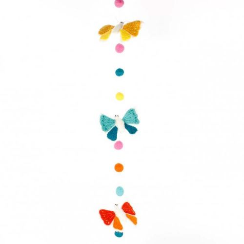 Vilten slinger vlinders