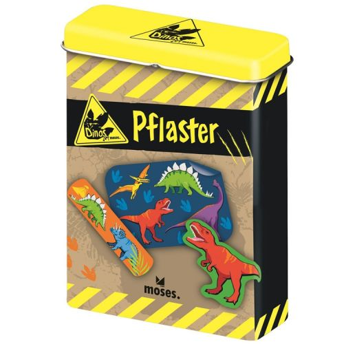 Blikje pleisters met dinosaurussen