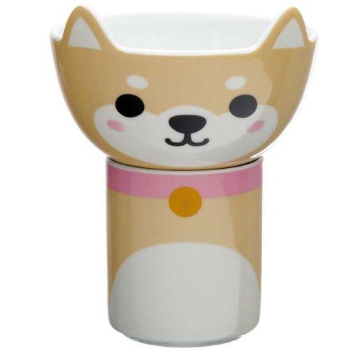 Beker en Schaaltje - Cutiemals Shiba Inu