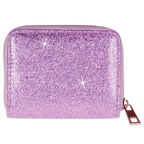 Meisjes portemonnee lila-paars glitter