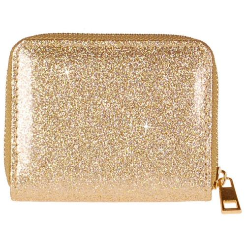 Meisjes portemonnee goudkleurig glitter