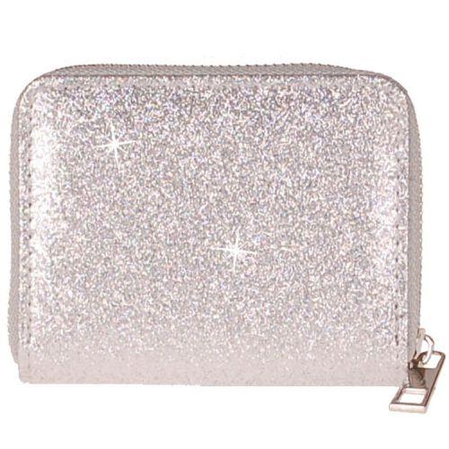 Meisjes portemonnee zilverkleurig glitter