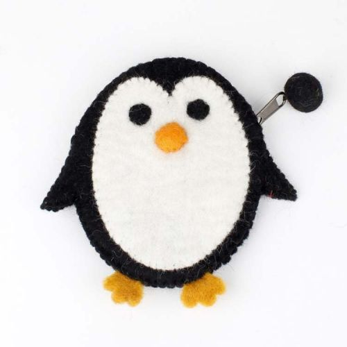 Vilten portemonnee pinguïn