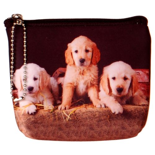 Kleine portemonnee Golden Retriever pups