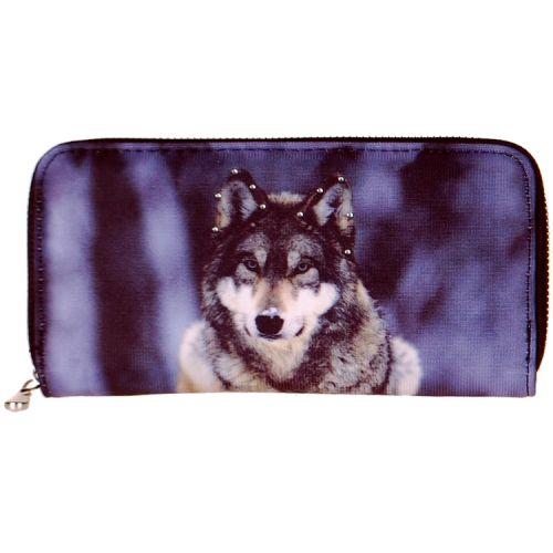 Portemonnee groot wolf