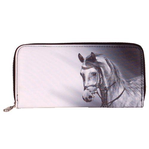 Portemonnee groot Paard grijs