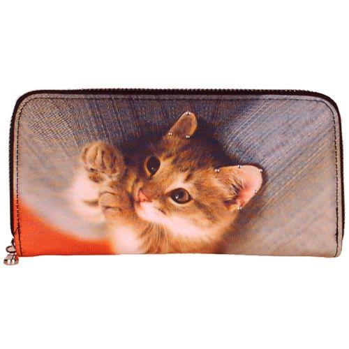 Portemonnee groot poesje/kitten