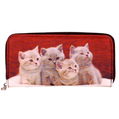 Portemonnee groot poesjes/kittens