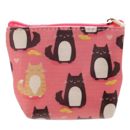 Kleine portemonnee roze Feline Fine Cat
