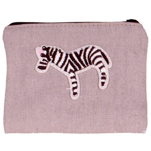 Kleine portemonnee met zebra