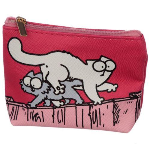 Kleine portemonnee - Simon's Cat Fuchsia