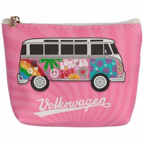 Kleine portemonnee Volkswagen Kampeerbus roze