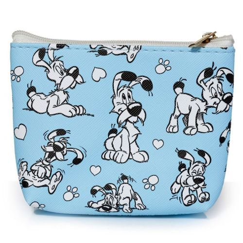 Kleine portemonnee Asterix - Idefix lichtblauw