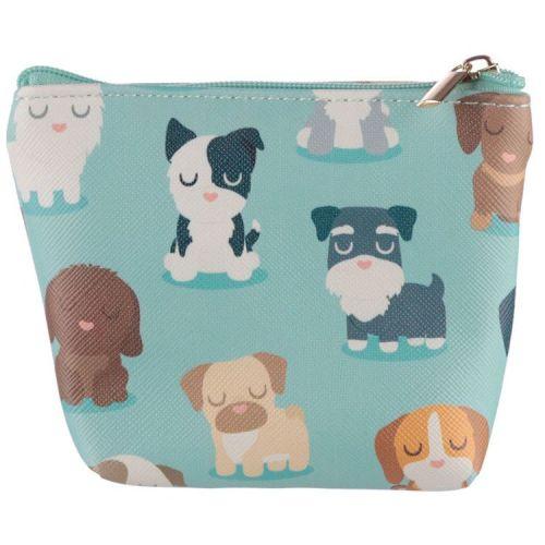 Kleine portemonnee Hondjes lichtblauw