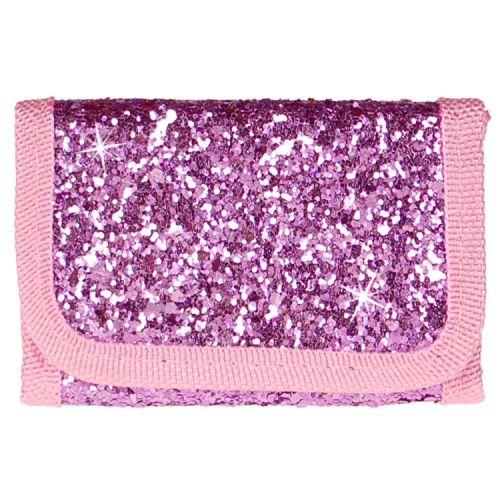 Portemonnee paars/roze met glitters