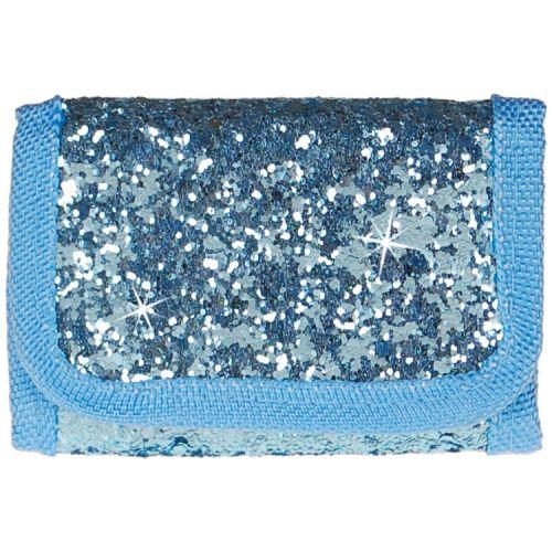 Portemonnee blauw met glitters