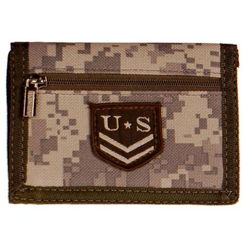 Portemonnee digital camo USMC met embleem